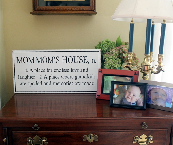 Personalized Grandmother Sign