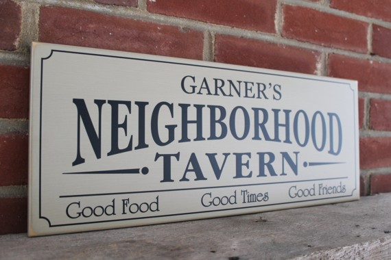 Neighborhood Tavern Sign