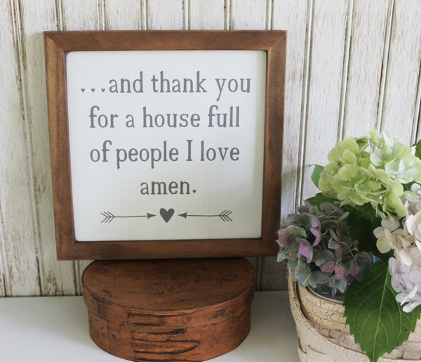 and I thank you for a house full of people