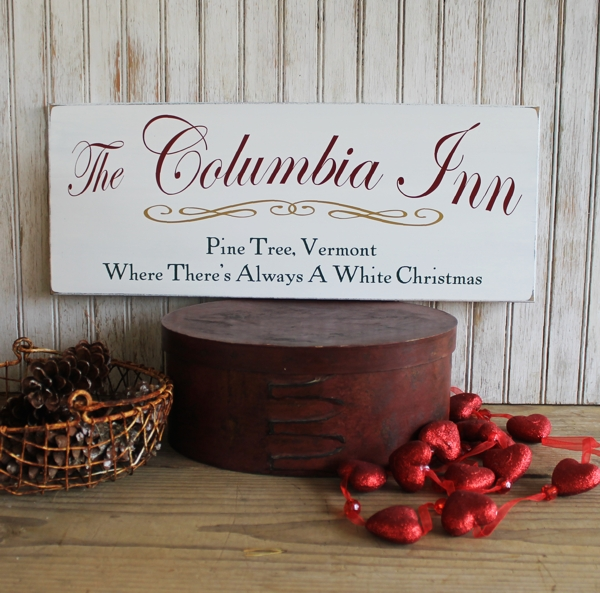 Columbia Christmas Tree: Columbia Inn Pine Tree, Vermont White Christmas Sign