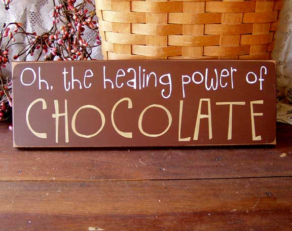 Oh the Healing Power of Chocolate
