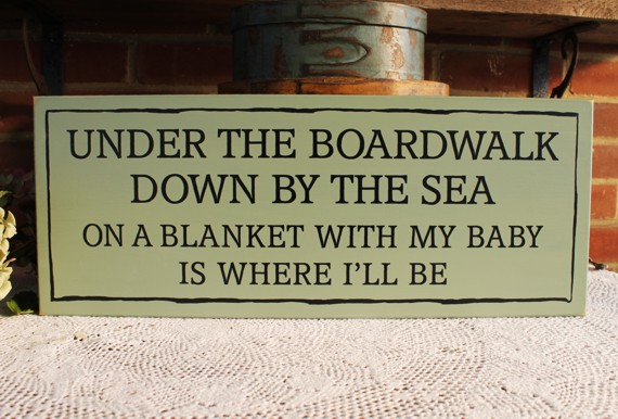 Under The Boardwalk Beach Cottage Wood Sign Wall Decor