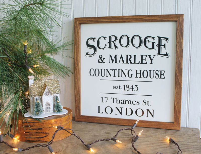 Scrooge and Marley Christmas Sign