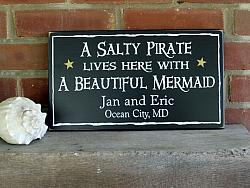 A Salty Pirate and Beautiful Mermaid Personalized