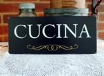 Cucina Sign for Your Italian Kitchen