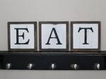 Framed EAT Set of 3 Signs