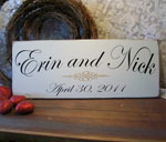 Personalized Wedding or Anniversary Sign