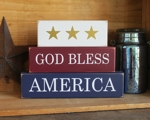 Shelf Sitter Blocks God Bless America