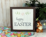 Happy Easter Framed Wood Sign