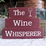 Shelf Sitter Blocks The Wine Whisperer