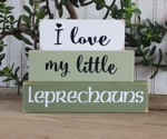 Shelf Sitter Blocks I Love My Little Leprechauns