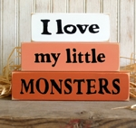 Shelf Sitter Blocks I Love My Little Monsters