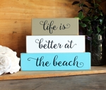 Shelf Sitter Blocks Life is Better at the Beach