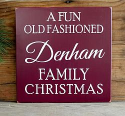 A Fun Old Fashioned Family Christmas Personalized