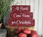 Shelf Sitter Blocks All Hearts Come Home for Christmas
