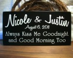 Personalized Wedding Kiss Me Sign