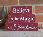 Shelf Sitter Blocks Believe in the Magic of Christmas