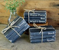 Faux Book Stack Halloween