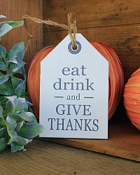 Eat, Drink, Give Thanks Hang Tag