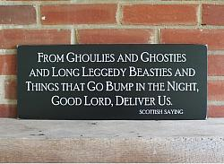 From Ghoulies and Ghosties