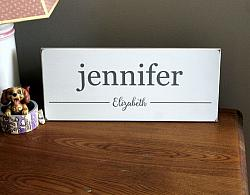Children Personalized Name Sign