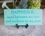 Happiness is Sand on Toes Sunburn Nose
