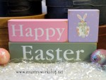 Shelf Sitter Blocks Happy Easter