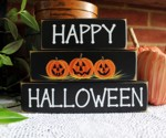 Shelf Sitter Blocks Happy Halloween