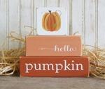 Shelf Sitter Blocks Hello Pumpkin