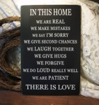 In This Home ... There is Love