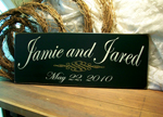 Personalized Sign for Bride and Groom