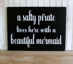 Salty Pirate and Beautiful Mermaid Design 2 Large