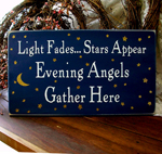 Light Fades Stars Appear Evening Angels Gather Here