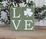 Shelf Sitter Blocks Shamrock Love