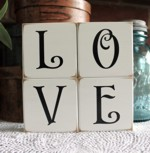 Shelf Sitter Blocks LOVE