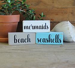 Mermaids Beach Seashells Mini Blocks