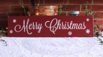 Merry Christmas Burgundy Sign