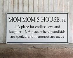 Personalized Mom Mom's House n. 10x20