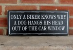Only a Biker knows why a Dog hangs his head out of the Car Window