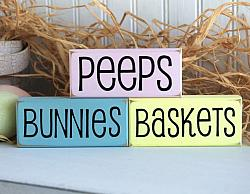 Peeps Bunnies and Baskets