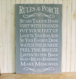 Rules Of The Porch