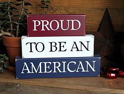 Proud to be an American Blocks