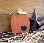 Pumpkin Wood 5x6 inches