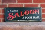 Personalized Saloon and Pool Hall