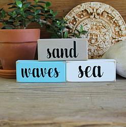 Shelf Sitter Blocks Sand Waves Sea Mini Blocks