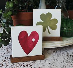 Shamrock Heart Reversible Block