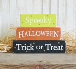 Shelf Sitter Blocks Spooky Halloween Trick or Treat