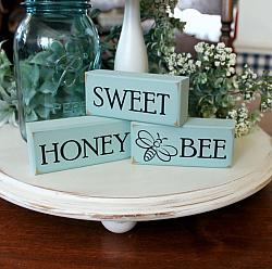 Sweet Honey See Blocks Seafoam