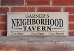Personalized Neighborhood Tavern Sign