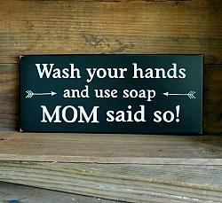 Wash Your Hands and Use Soap Mom Said So